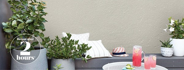 PAINT YOUR RENDERED WALL WITH ACCENT®
