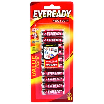 Eveready Battery Heavy Duty Red AA 10 Pack