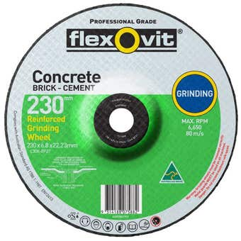 Flexovit Masonry Grinding Wheel 230 x 6.8 x 16.0mm