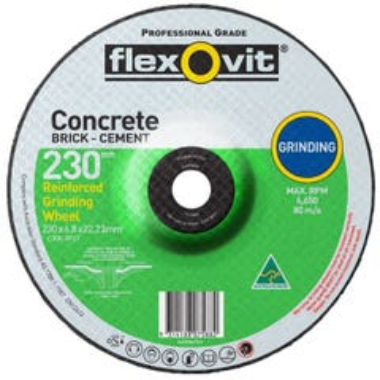 Flexovit Masonry D/C Grinding Wheel 230 x 6.8 x 16.0mm