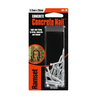 Ramset Concrete Nail Striated 3.2 x 25mm - 25 Pack