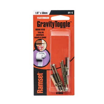 "Ramset GravityToggle Round Head 1/8"" x 50mm - 4 Pack"