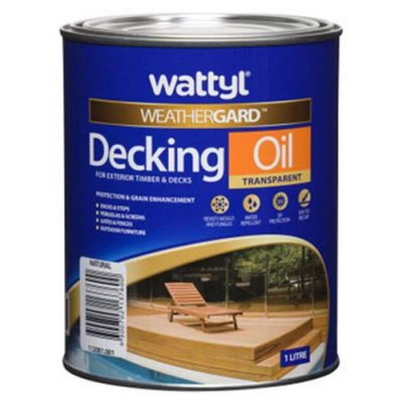Weathergard Decking Oil Natural 1L