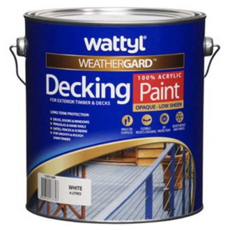 Wattyl Weathergard Deck Paint White 4L