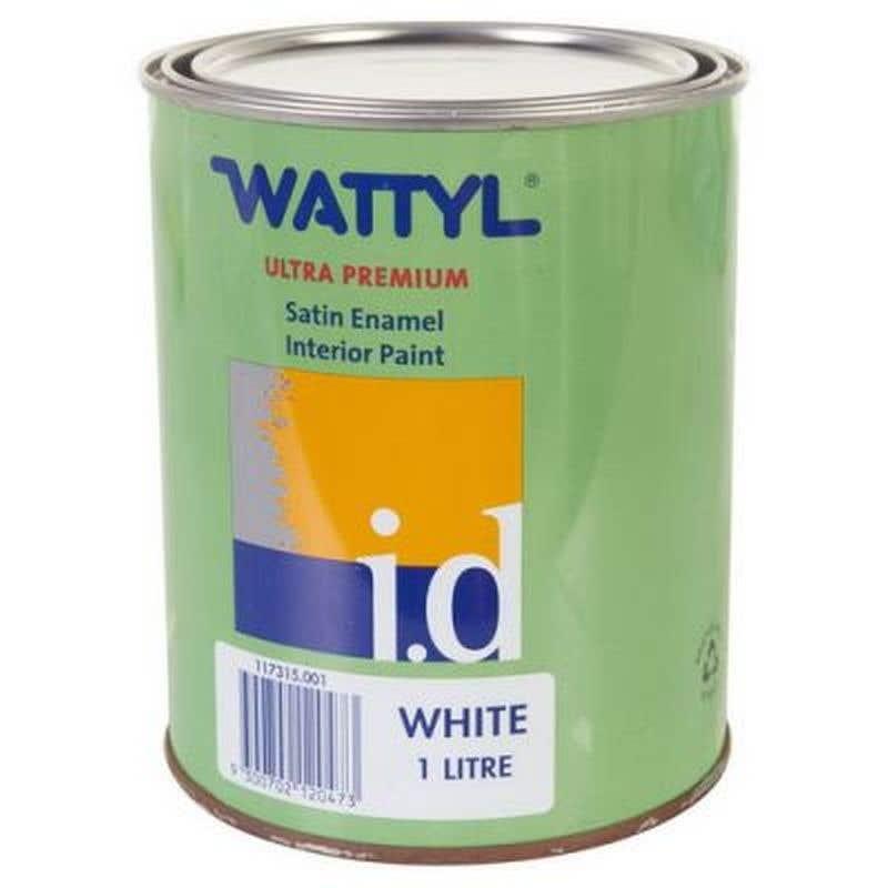 Wattyl Master Enamel Satin White Base 1L