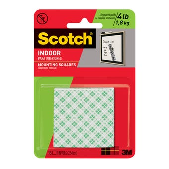 Scotch Indoor Mounting Squares 2.5 x 2.5cm - 16 Pack