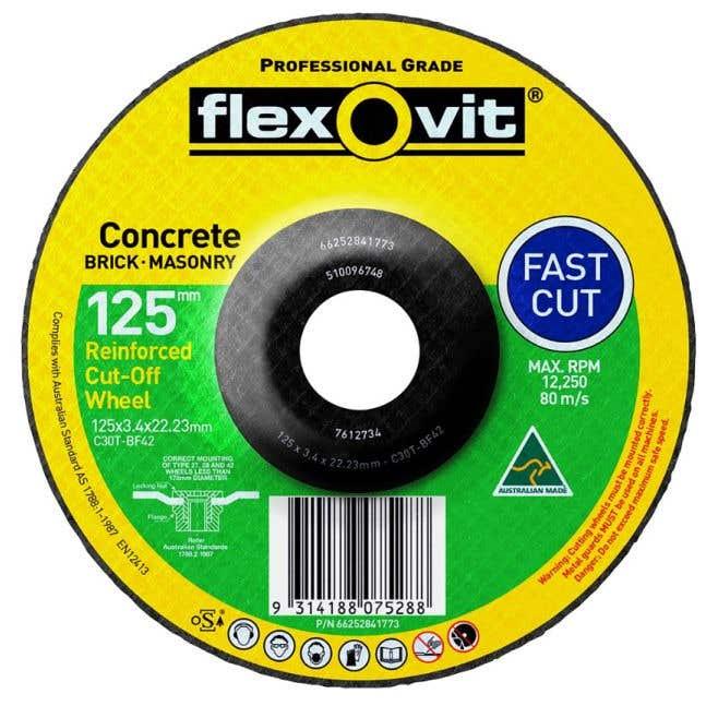 Flexovit Masonry Cut-Off Wheel 127 x 3.4 x 22mm