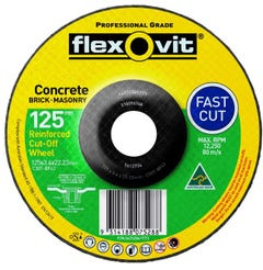 Flexovit Masonry Cut-Off Wheel 127 x 3 4 x 22mm