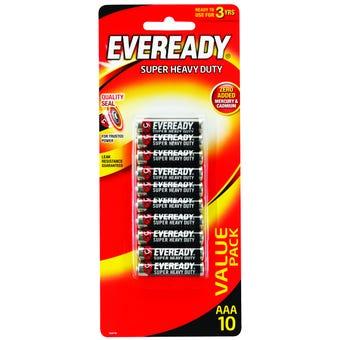 Eveready Super Heavy Duty Battery AAA - 10 Pack