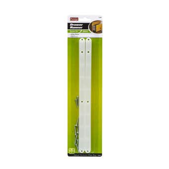 Prestige Plastic Drawer Runners White 300 x 17 x 13mm - 2 Pack