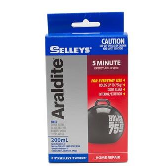 Selleys Araldite 5 Minute Epoxy Adhesive 200ml