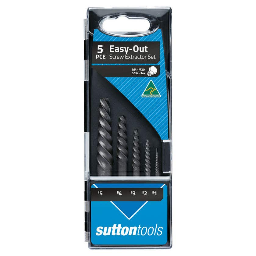 Sutton Tools Easy Out Screw Extractor Set - 5 Piece