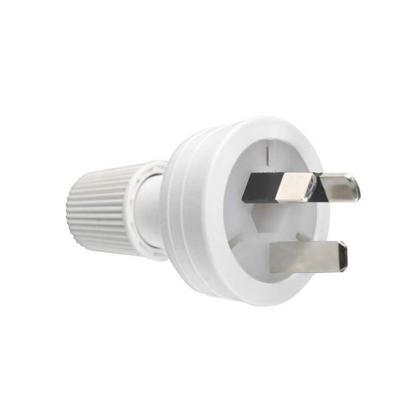 HPM 10A 3 Pin Plug Top White