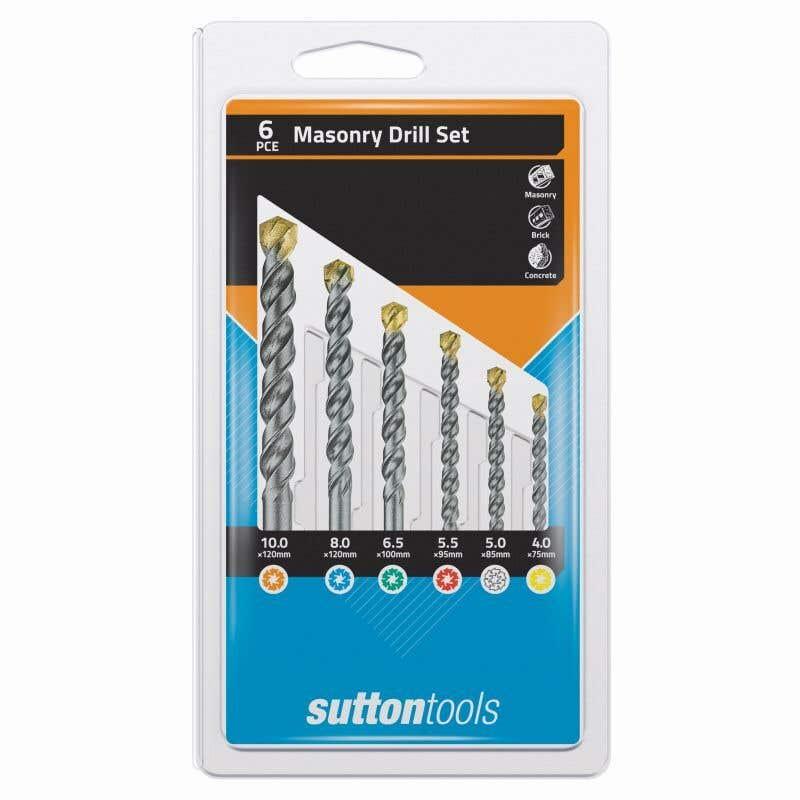 Sutton Tools Masonry Drill Set Standard Fixing - 6 Piece