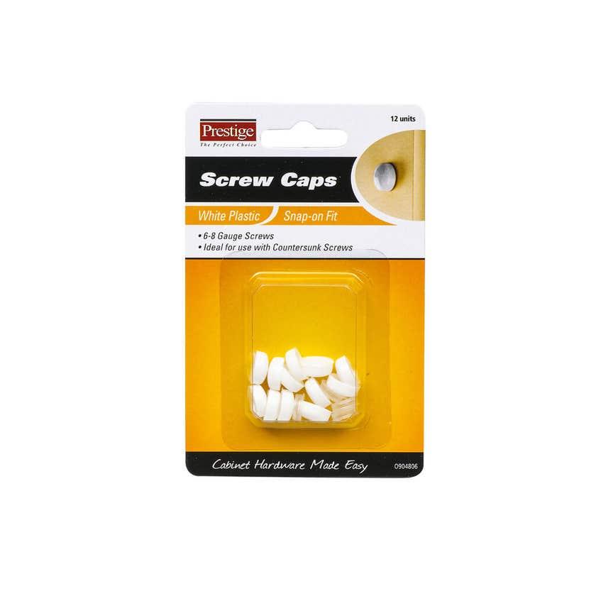 Prestige Snap-on Screw Caps White 6 - 8g - 12 Pack