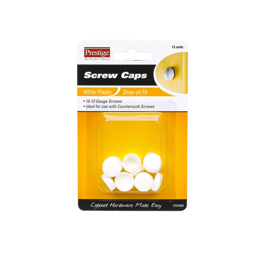 Prestige Snap-on Screw Caps White 10 - 12g - 12 Pack