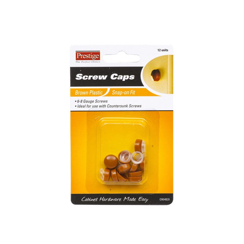 Prestige Snap-on Screw Caps Brown 6 - 8g - 12 Pack