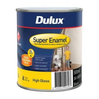 Dulux Super Enamel High Gloss Black 500ml