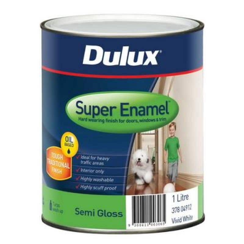 Dulux Super Enamel Vivid White 1L