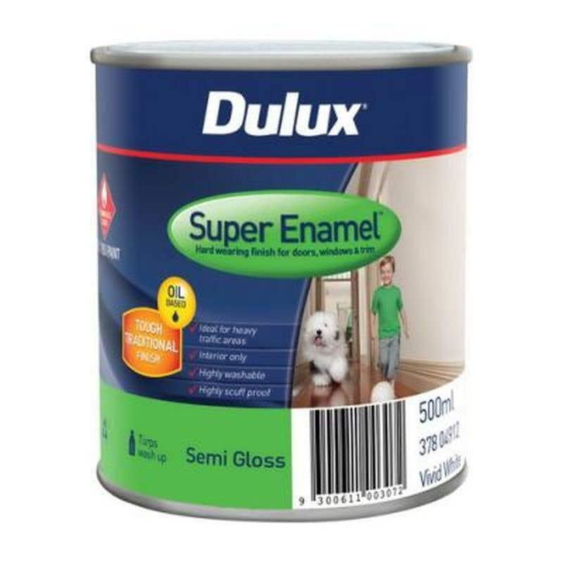 Dulux Super Enamel Vivid White 500ml