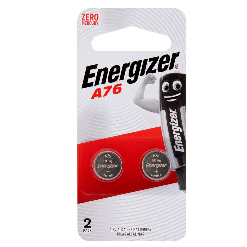 Energizer Max Calculator Battery A76 - 2 Pack