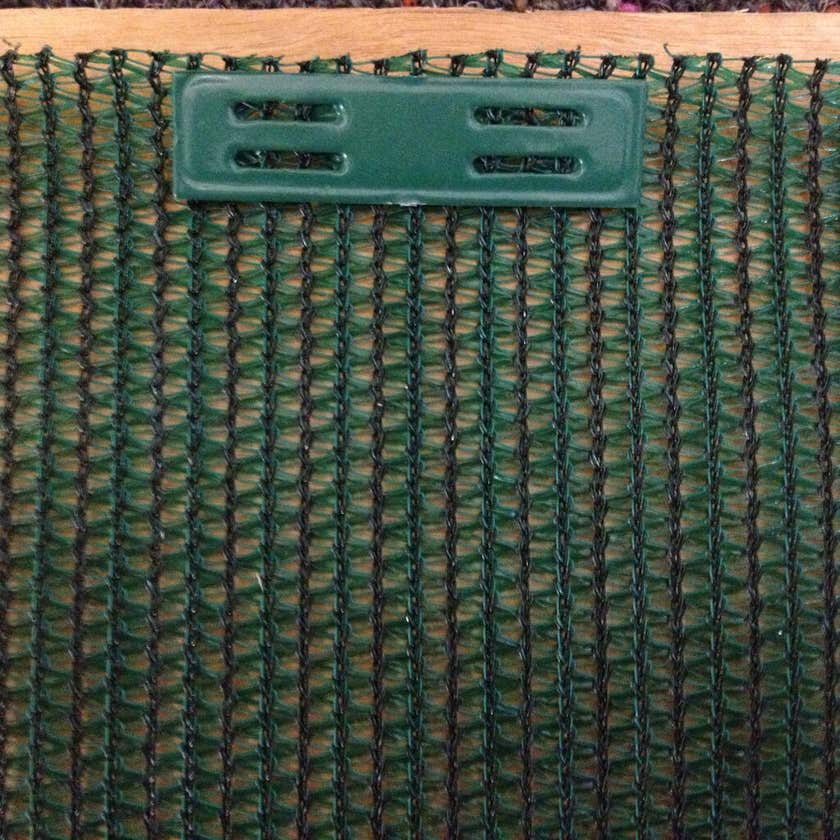 Coolaroo Shade Cloth Timber Fasteners Green - 50 Pack
