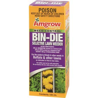 Amgrow Chemspray Bin-Die Selective Lawn Weeder Concentrate 100ml