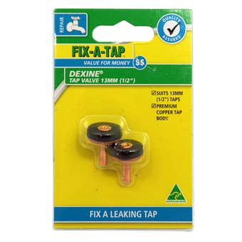 FIX-A-TAP Dexine Tap Valve 13mm - 2 Pack