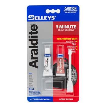 Selleys Araldite 5 Minute Epoxy Adhesive 8ml