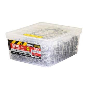 Buildex® Metal Teks Hex Head HIGRIP with Seal 12 - 14 x 50mm - 1000 Pack