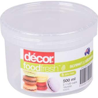 Decor Screw Top Container 500mL
