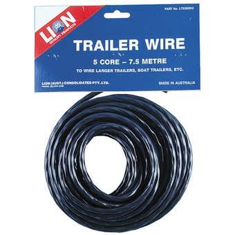 Lion Trailer Wire 5 Core 7.5m