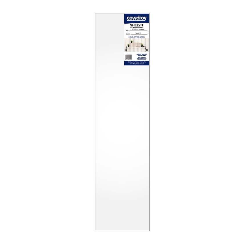 Cowdroy Shelvit Timber Shelf White 600 x 16 x 150mm