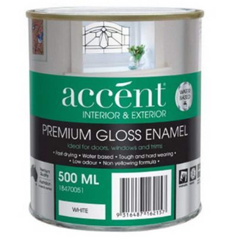 Accent® Enamel Water Based Gloss White 500ml