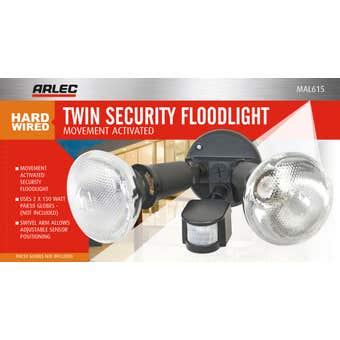 Arlec Compact Security Twin Floodlight