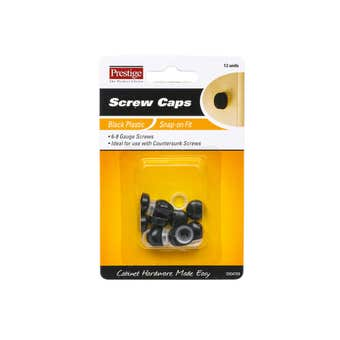 Prestige Snap-on Screw Caps Black 6 - 8g - 12 Pack