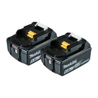 Makita 2Pk 18V 6.0Ah Li-Ion Batteries with Gauge