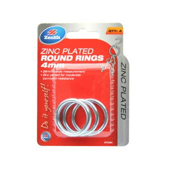 Zenith Round Ring Zinc Plated 27 x 4mm - 4 Pack