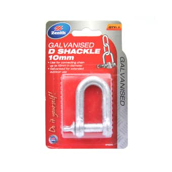 Zenith D-Shackle Galvanised 10mm - 1 Pack
