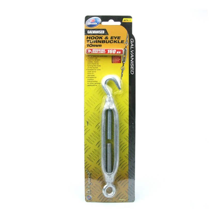 Zenith Hook & Eye Turnbuckle Galvanised 10mm - 1 Pack