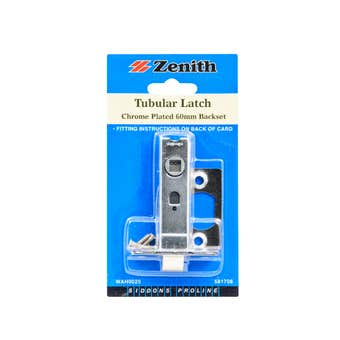 Zenith Tubular Latch Chrome - 1 Pack