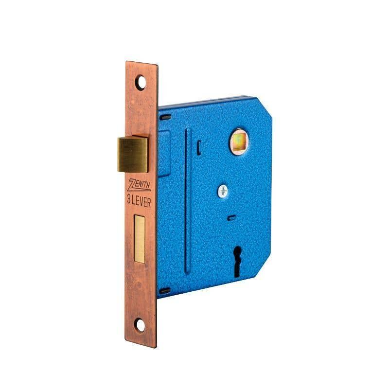 Zenith Lock Mortice Florentine Bronze - 1 Pack