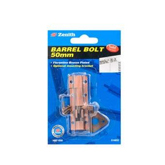 Zenith Barrel Bolt Florentine Bronze 50mm - 1 Pack