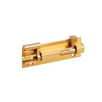 Zenith Necked Barrel Bolt Polished Brass 75mm - 1 Pack