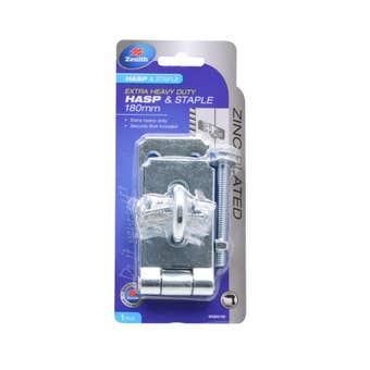 Zenith Heavy Duty Hasp & Staple Zinc Plated 180mm - 1 Pack