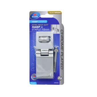 Zenith Heavy Duty Hasp & Staple Chrome Plated 115mm - 1 Pack