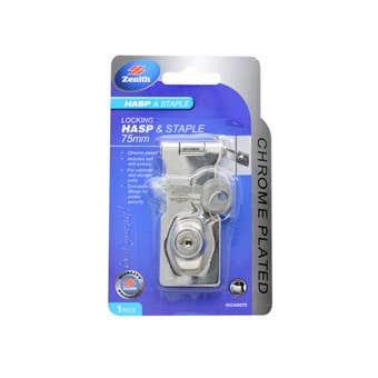 Zenith Locking Hasp & Staple Chrome Plated 75mm - 1 Pack