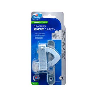 Zenith D Pattern Gate Latch Zinc Plated - 1 Pack