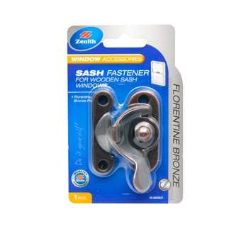 Zenith Sash Fastener Florentine Bronze - 1 Pack