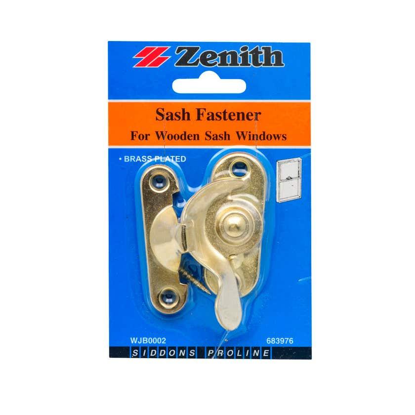 Zenith Sash Fastener Brass Plated - 1 Pack